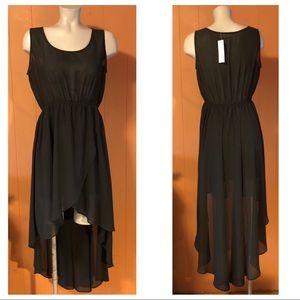 NWT Sans Souci Black Hi-Low Dress, Large